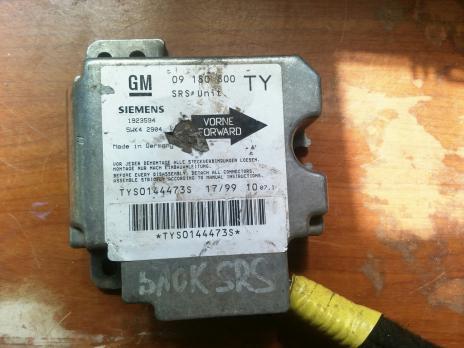 Блок управления AIR BAG Opel Vectra B 09180800