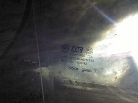 Стекло Opel Antara заднее правое 96624061